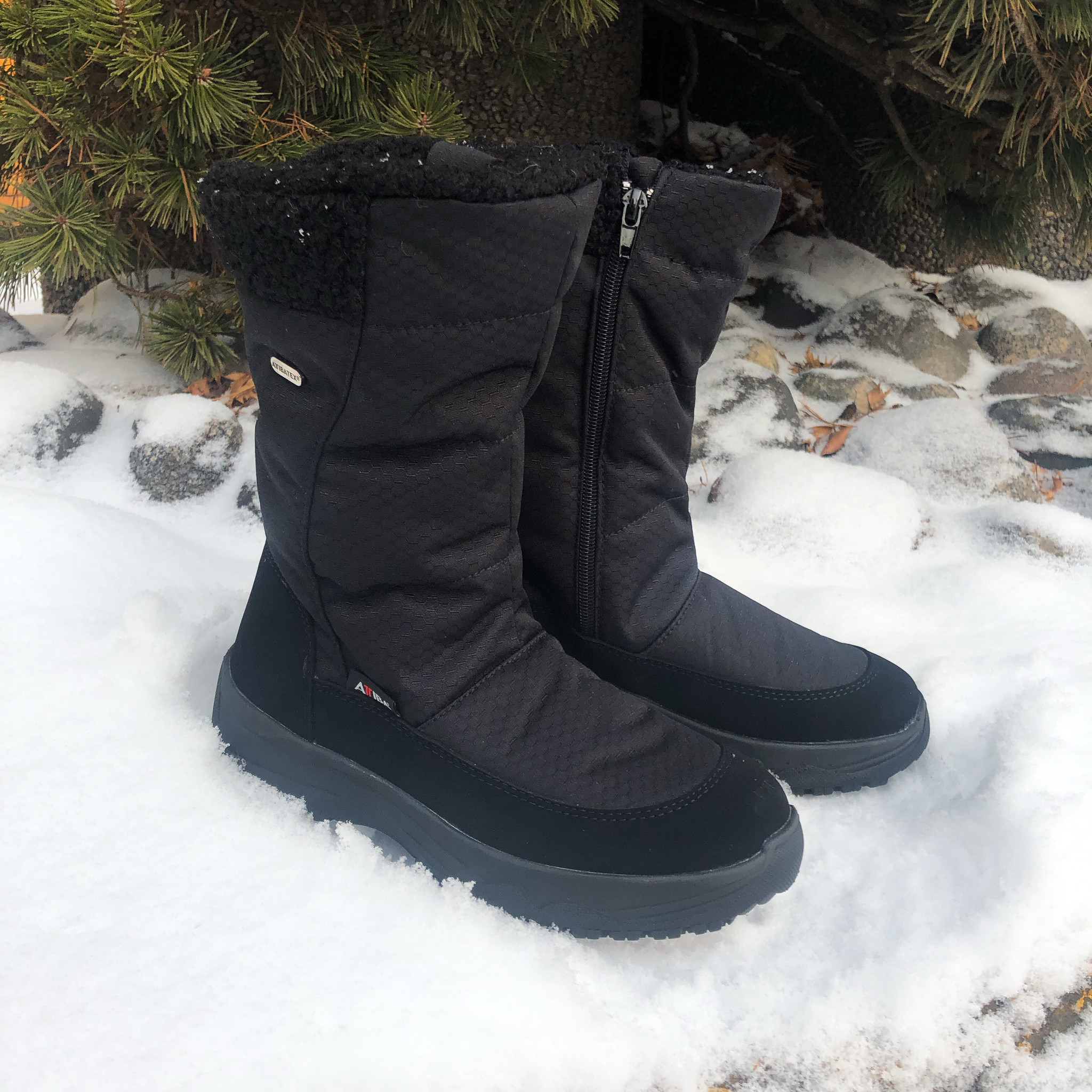 black boots for snow