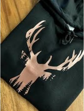 Deer Head Hoodie Rose Gold