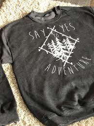Yes to Adventure Crew Charcoal