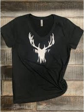 Deer Head V-Neck Tee