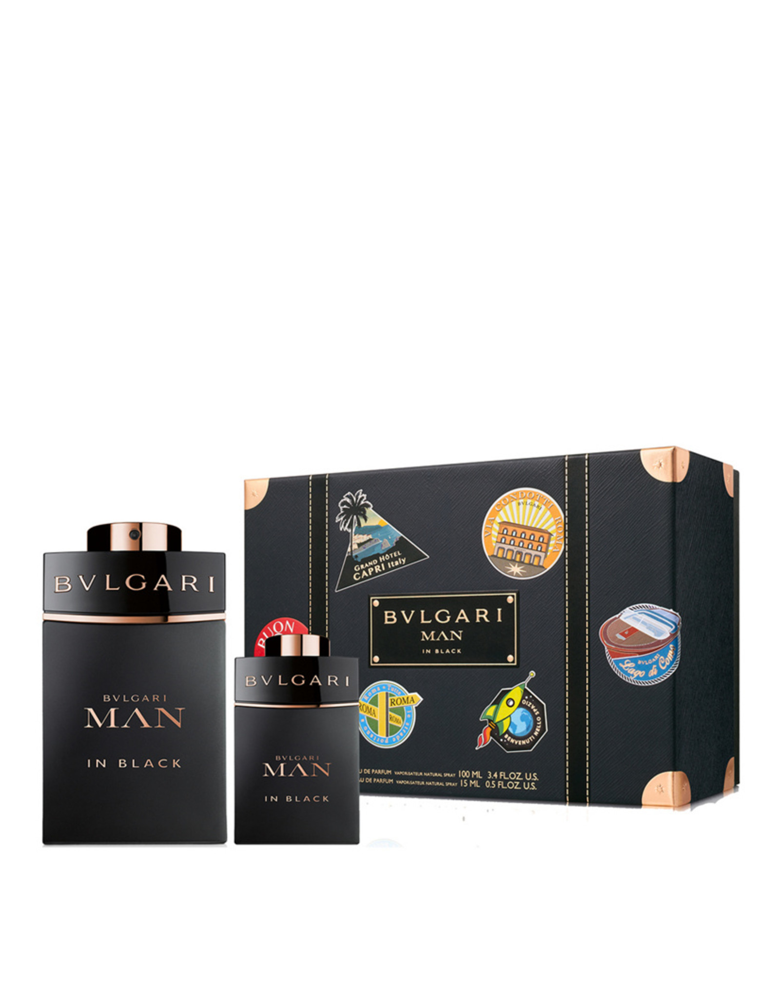 BVLGARI BVLGARI MAN IN BLACK 2pc Set (15ML MINI)