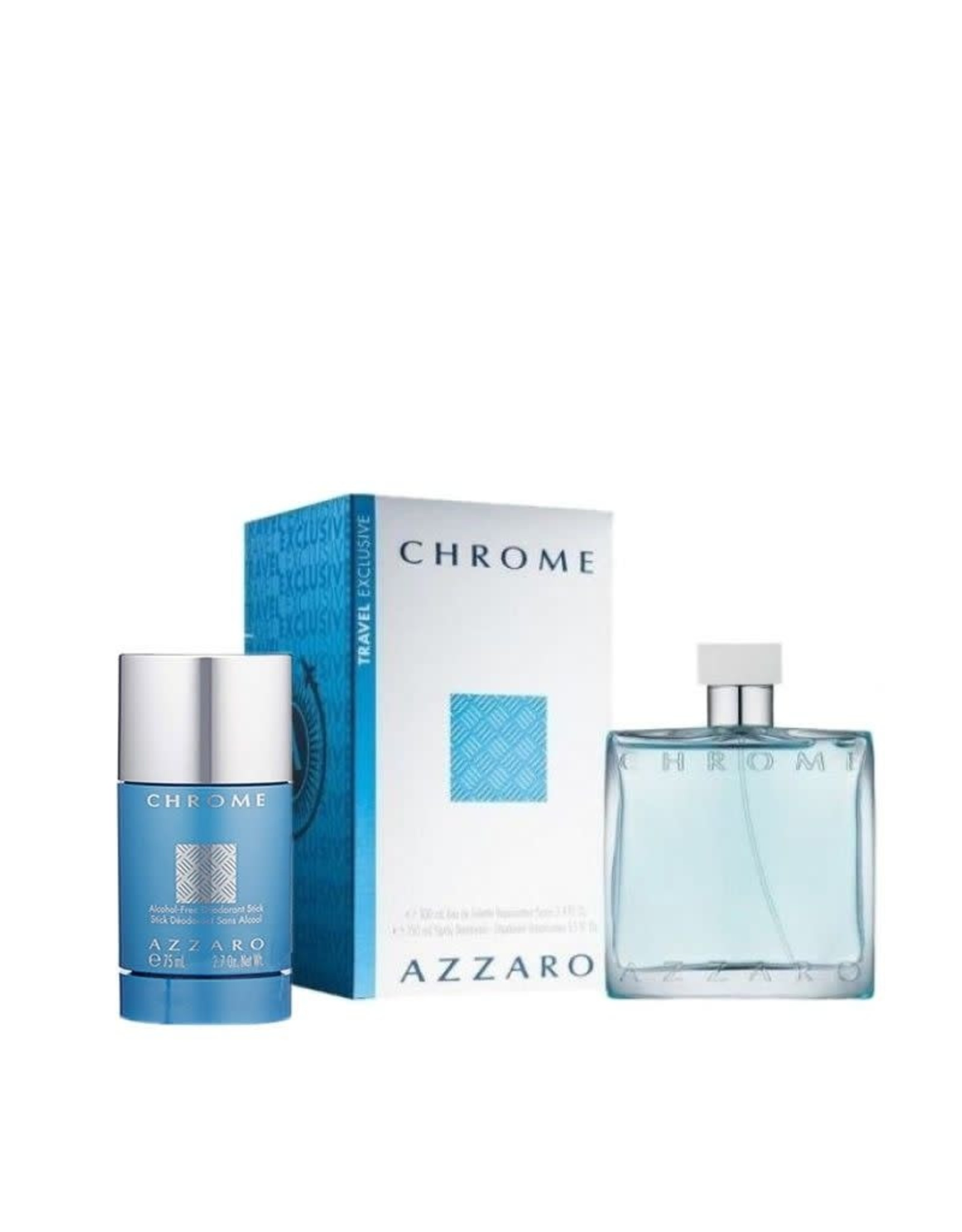 AZZARO AZZARO CHROME 2pcs Set 75ML alcohol free DEO Stick