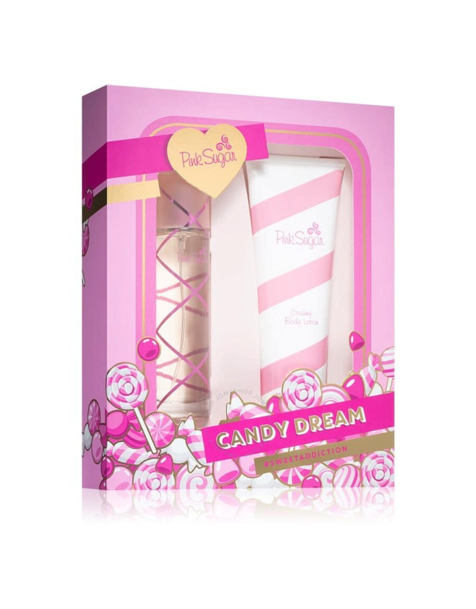 AQUOLINA PINK SUGAR CANDY CREAM SWEET ADDICTION 2pc Set