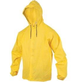 O2 Rainwear Hooded Rain Jacket with Drop Tail: Yellow