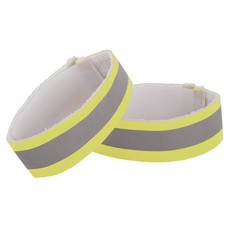 Nathan Reflective Ankle Band: Pair, Yellow