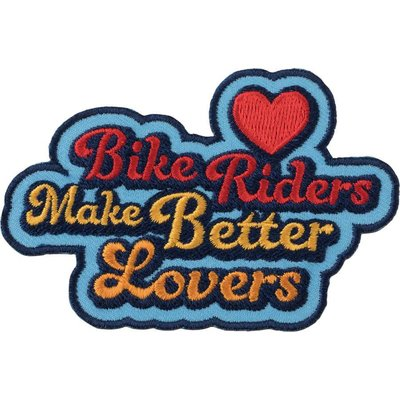 All-City All-City Bikers Make Better Lovers Patch: Blue/Multi-Color