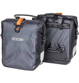 Ortlieb Ortlieb Gravel Pack Pannier Set: 25 Liter, Gray/Black