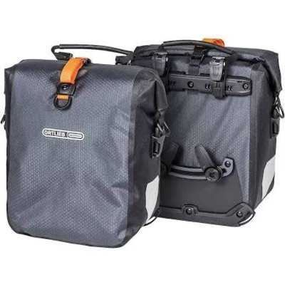 Ortlieb Ortlieb Gravel Pack Pannier Set: 25 Liter, Gray/Black