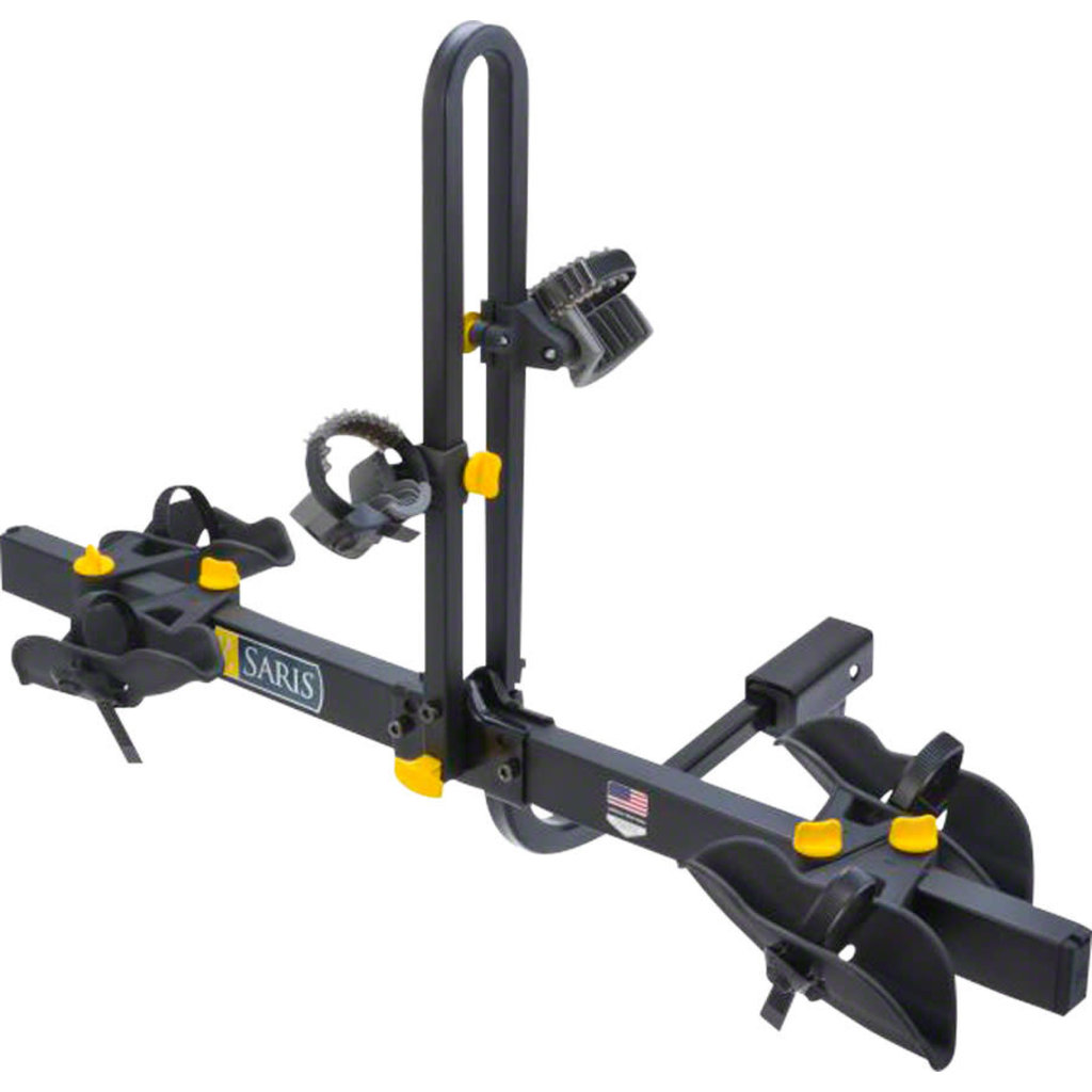 Saris Freedom 2 Bike Tray Universal Hitch Rack: 2-Bike Black
