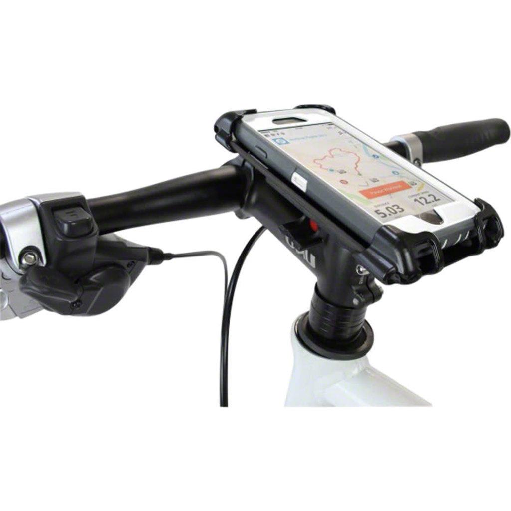 Delta Delta Hefty Holder Plus Smartphone Bike Mount - Clear Gray