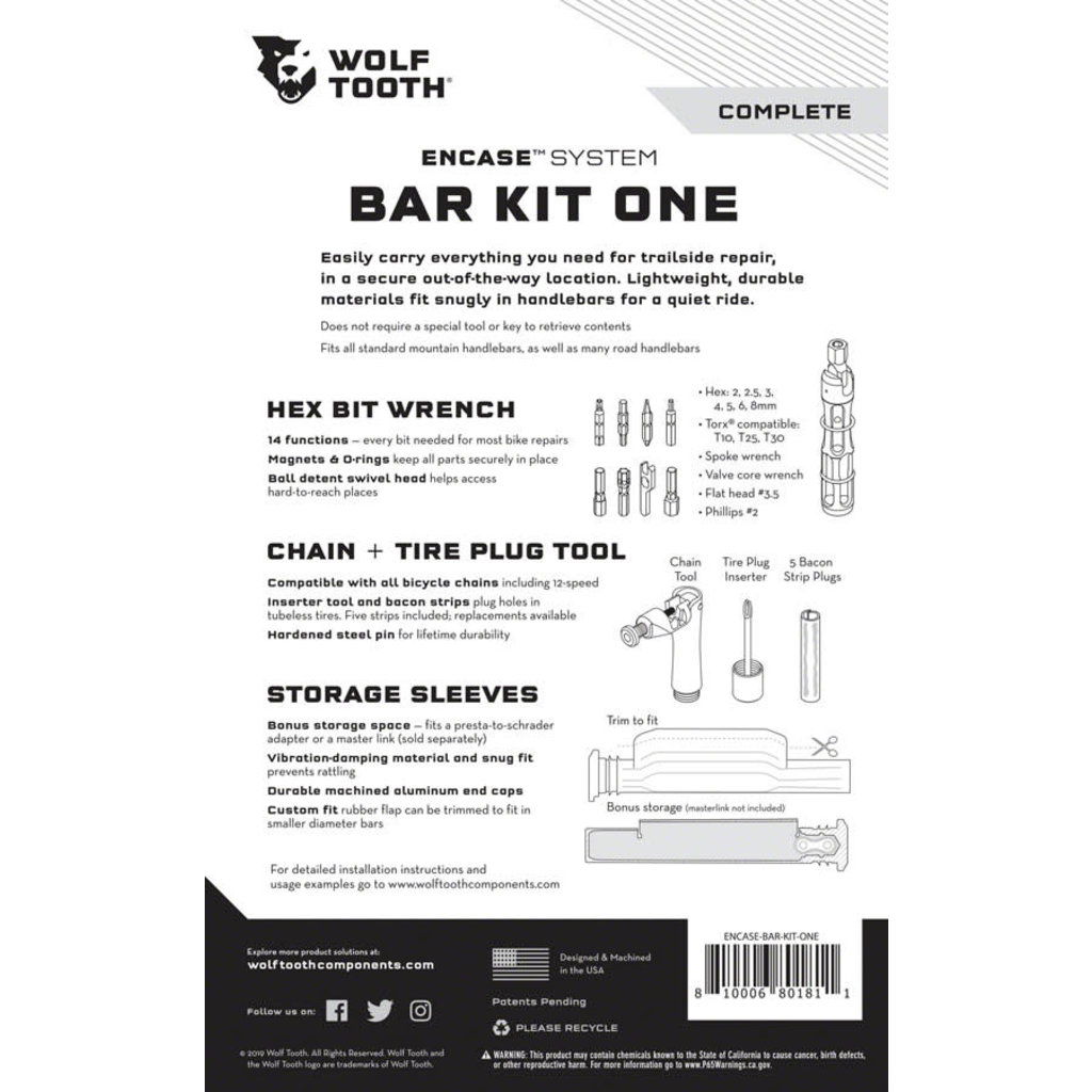 Wolf Tooth Wolf Tooth ENCASE System Bar Kit One
