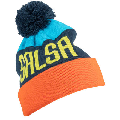 Salsa Salsa North Shore Beanie - Blue/Orange, One Size