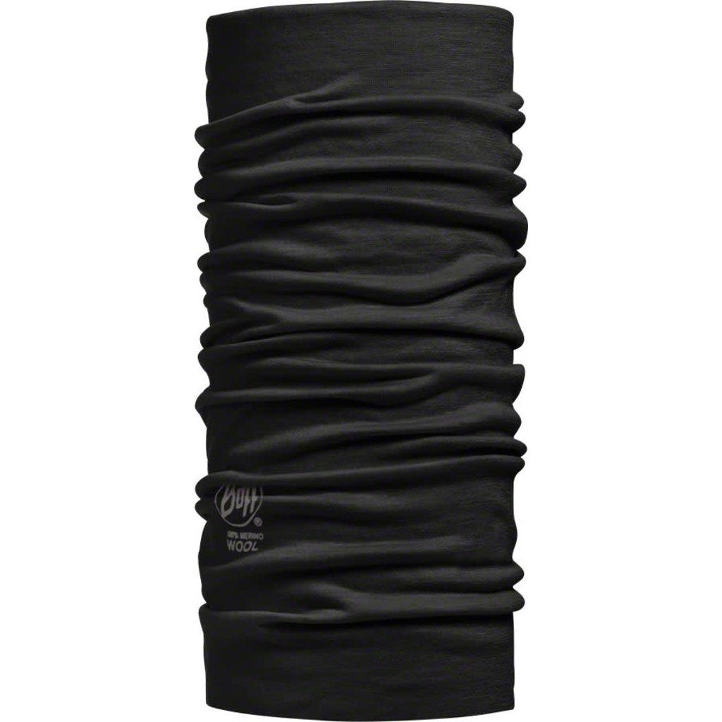 Buff Lightweight Merino Wool Multifunctional Headwear: Black, One Size