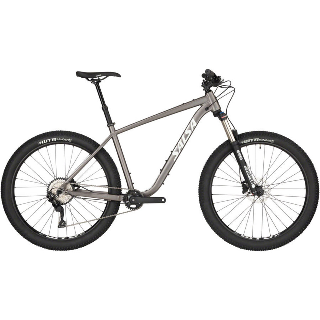 "Salsa Salsa Rangefinder Deore 27.5+ Bike - 27.5"", Aluminum, Silver"