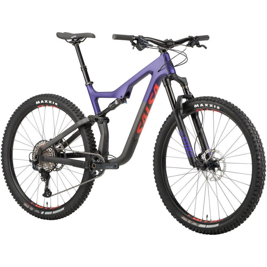 "Salsa Salsa Horsethief Carbon SLX Bike - 29"", Carbon, Purple/Black"