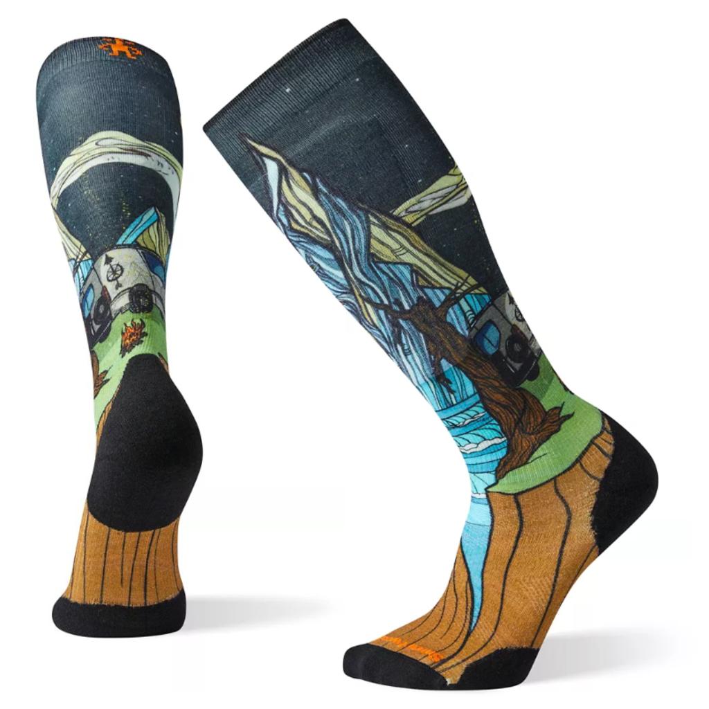 SMARTWOOL Men's PhD Ski Light Elite Print Socks