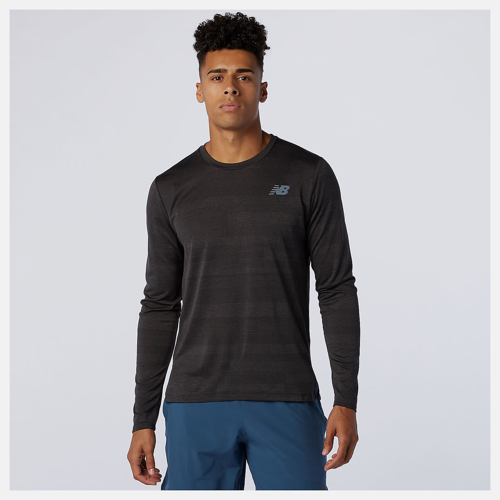 NEW BALANCE Men's Q Speed Fuel Jacquard Long Sleeve