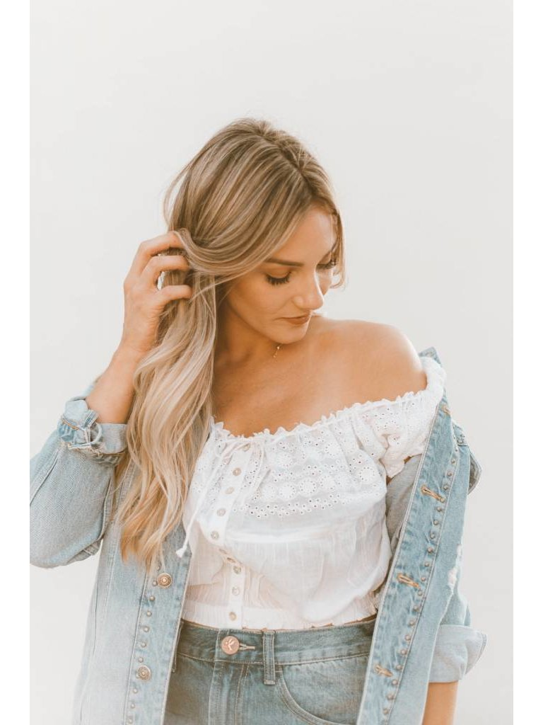 b612125ce98f8 Free People Eyelet You A Lot Top in White