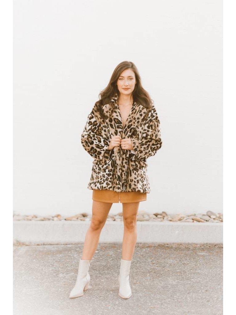 028ff1decf5a Kate Leopard Coat in Brown Combo - Elyse Wilde