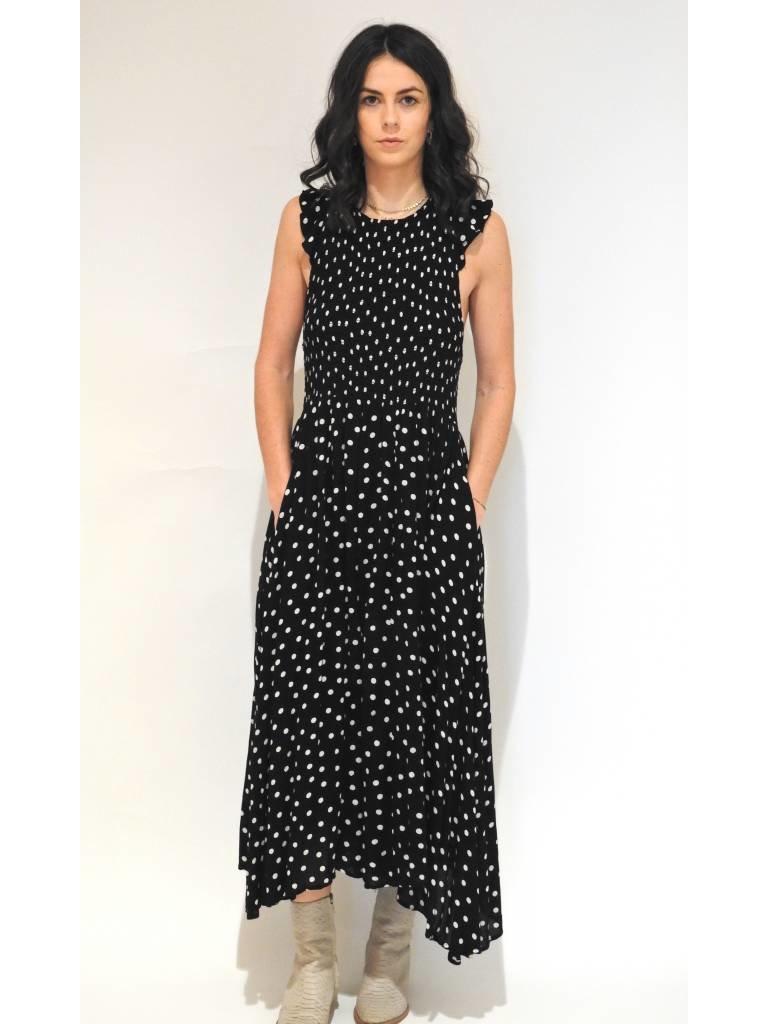 6f66ab76c97 Free People Chambray Butterflies Midi Dress in Black - Elyse Wilde