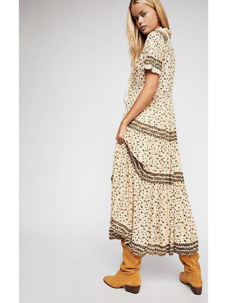 ca5a89fe17 Free People Rare Feeling Maxi Dress in Neutral - Elyse Wilde