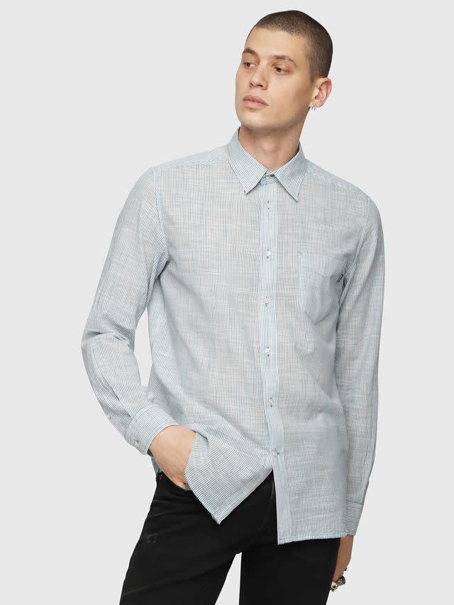 DIESEL Diesel - Men's Dress Shirt -Stryped