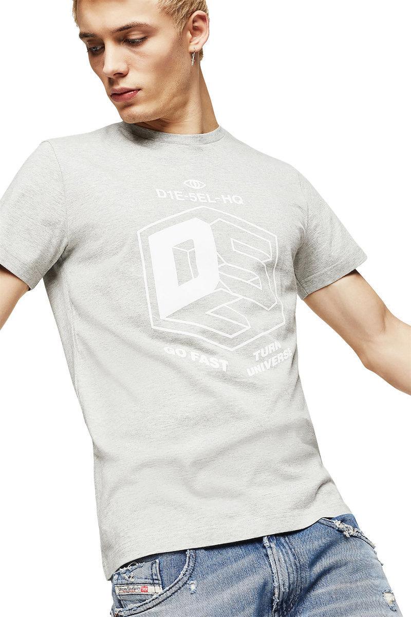 DIESEL DIESEL T-SHIRT T-DIEGO A3 - GREY