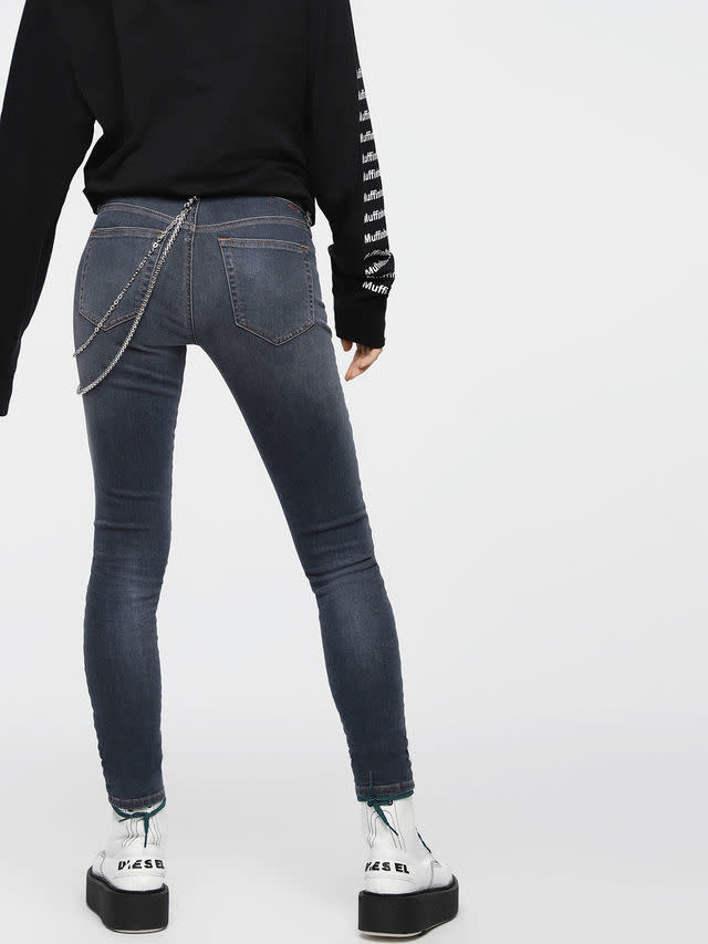 DIESEL DIESEL WOMEN'S JEANS SLANDY 069BT - DARK BLUE