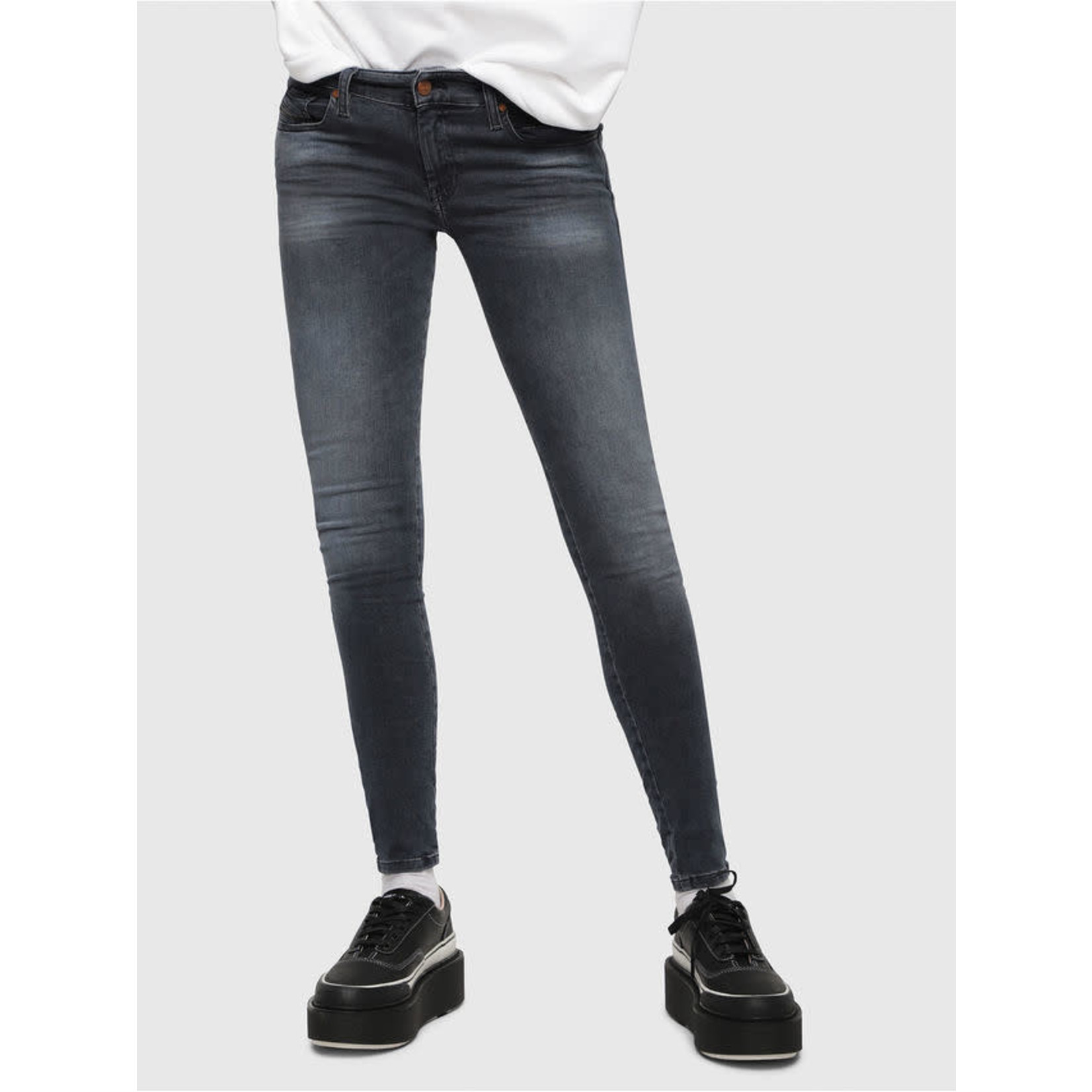DIESEL DIESEL WOMEN'S JEANS SLANDY LOW 069BT - DARK BLUE
