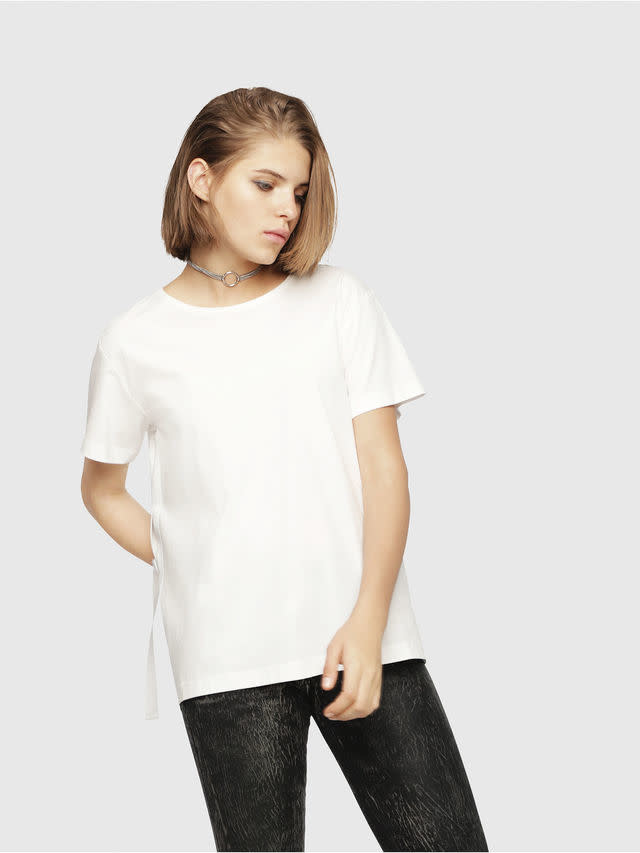 DIESEL DIESEL WOMEN'S T-FLEURIS A - WHITE
