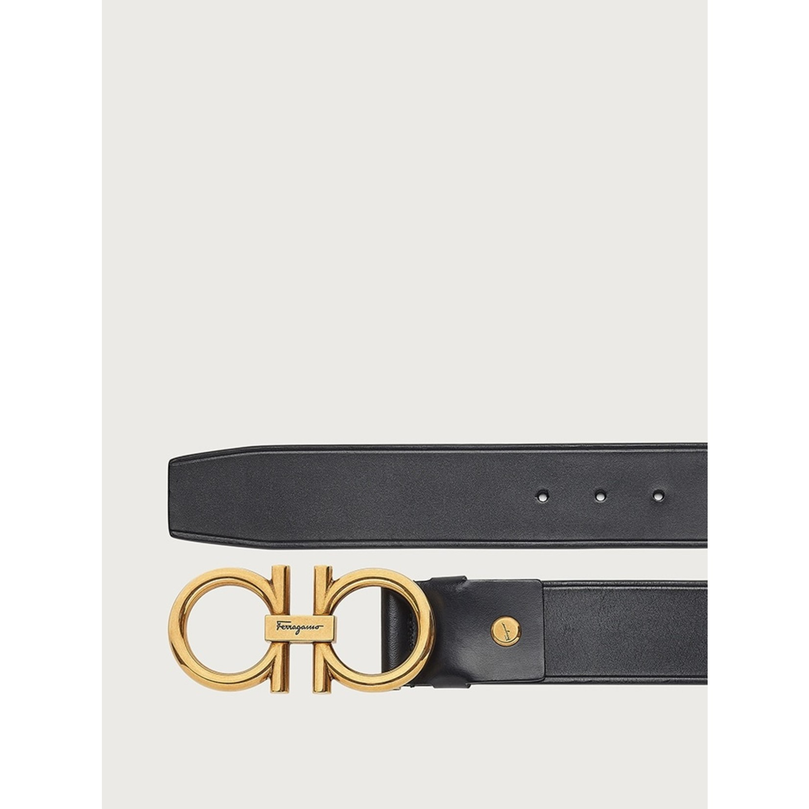 SALVATORE FERRAGAMO SALVATORE FERRAGAMO - GANCINI BELT BLACK - 702825
