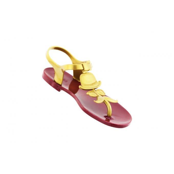 SHOELA SHOELA SANDALE MR MOUSTACHE - RED/GOLD
