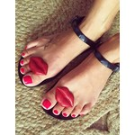SHOELA SHOELA SANDALE BESOS - BLACK/RED