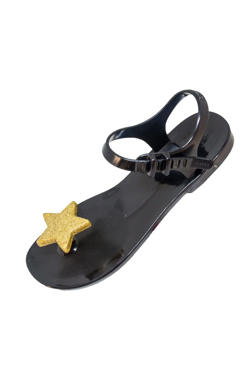 SHOELA MINI SHOELA SANDALE STAR - BLACK/GOLD