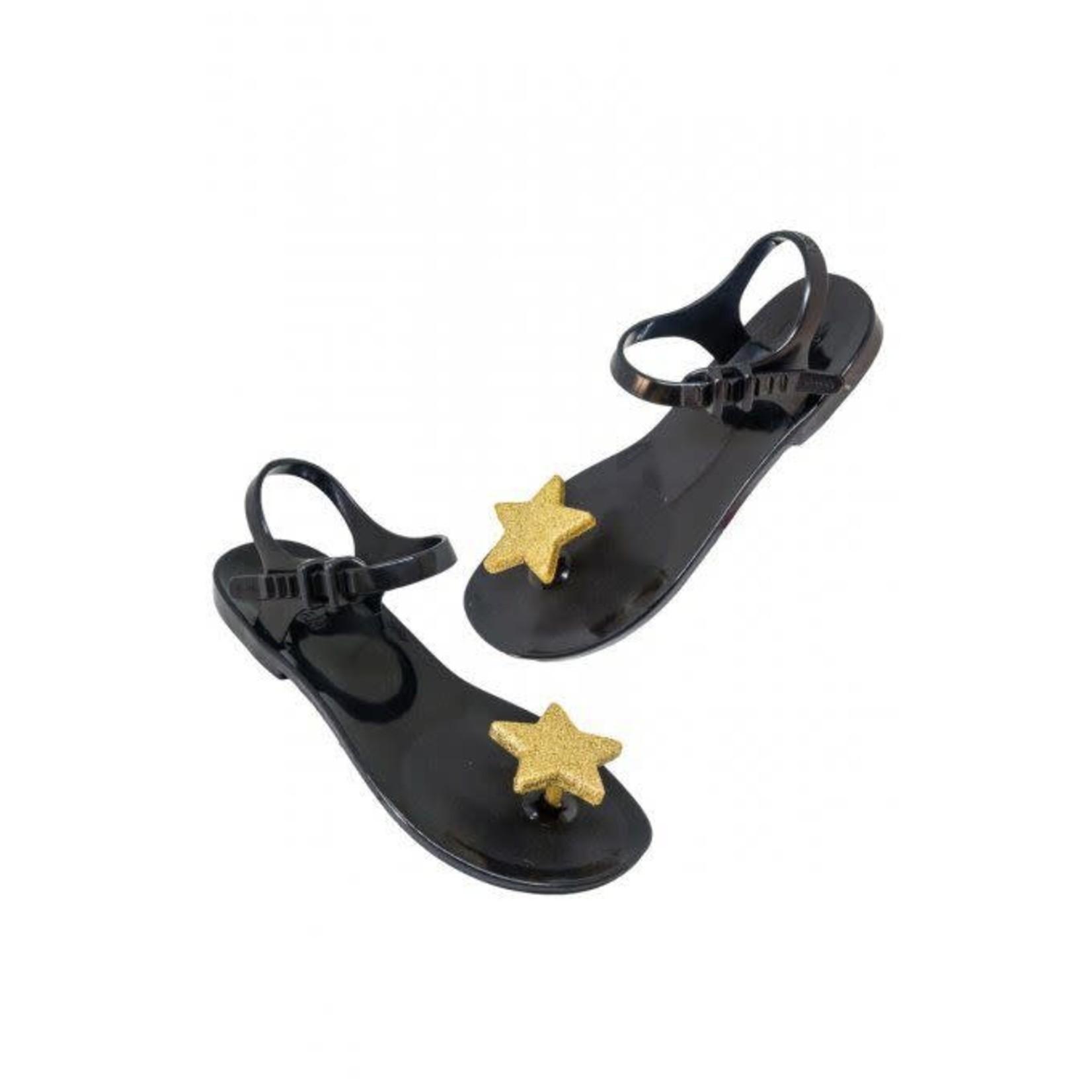 SHOELA MINI SHOELA SANDALE STAR - BLACK/GOLD