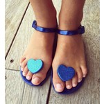 SHOELA MINI SHOELA SANDALE CORAZON - BLUE GLITTER