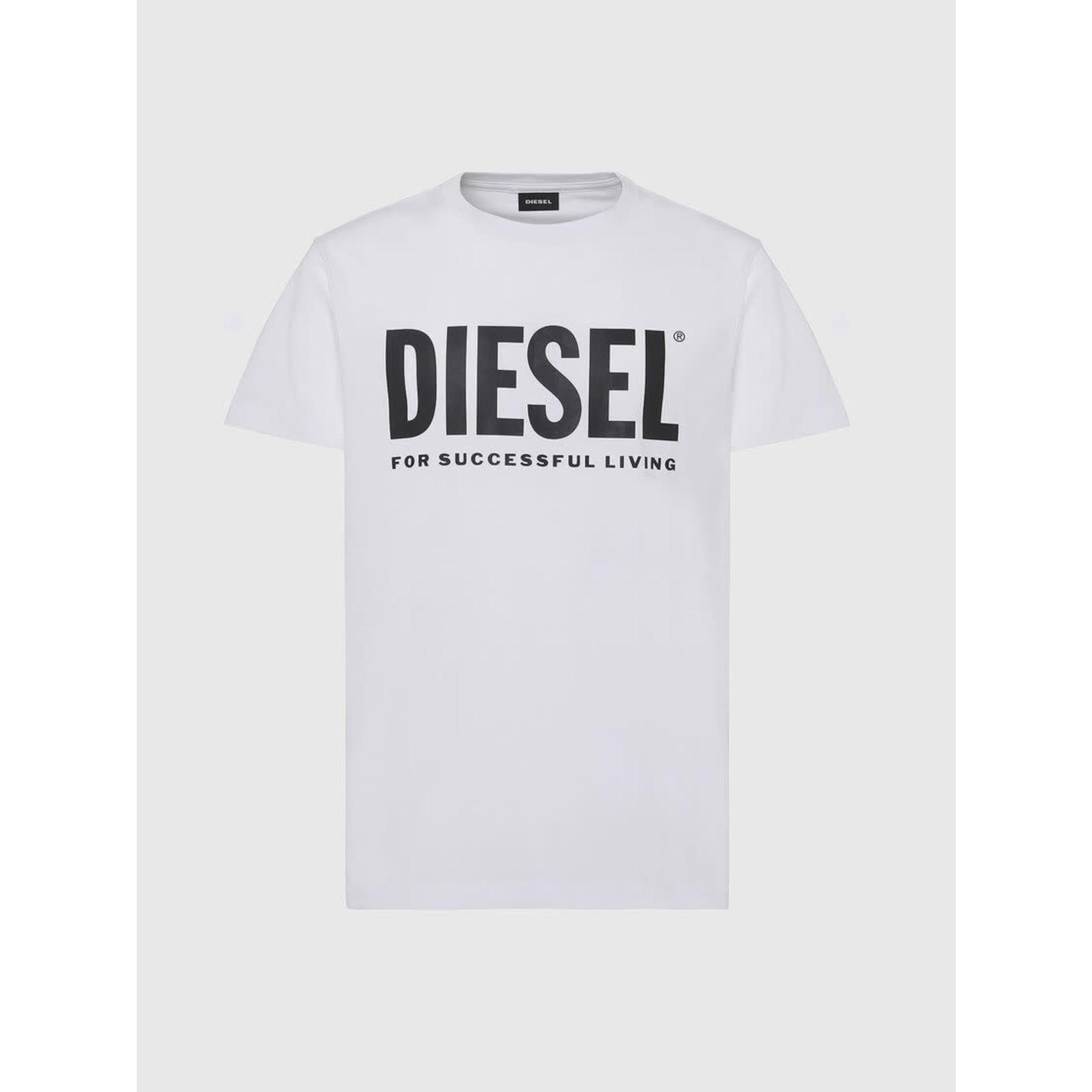 DIESEL DIESEL T-SHIRT DIEGO LOGO - WHITE