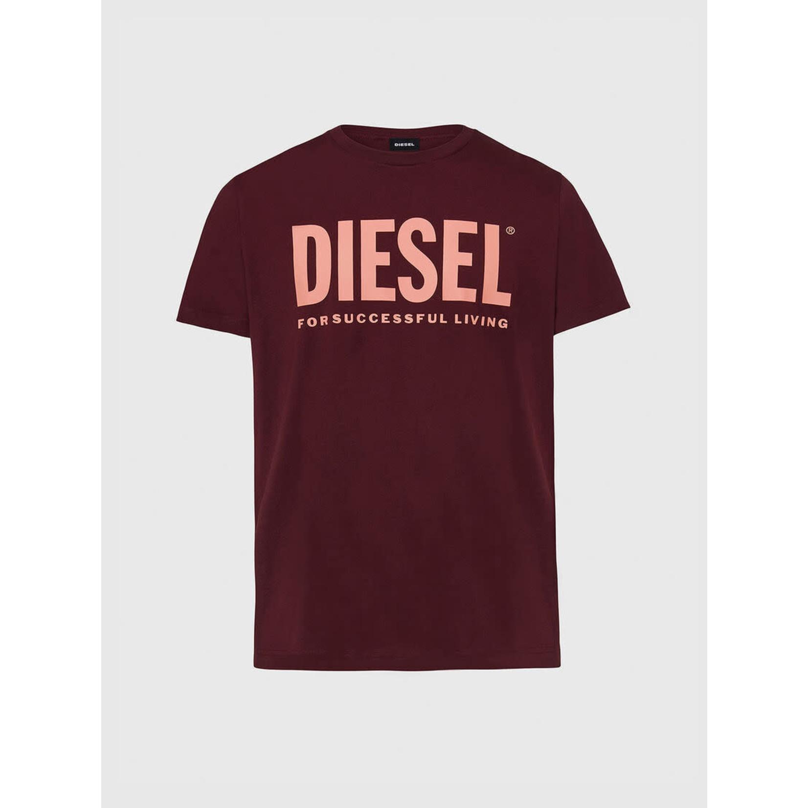 DIESEL DIESEL T-SHIRT DIEGO LOGO - PLUM