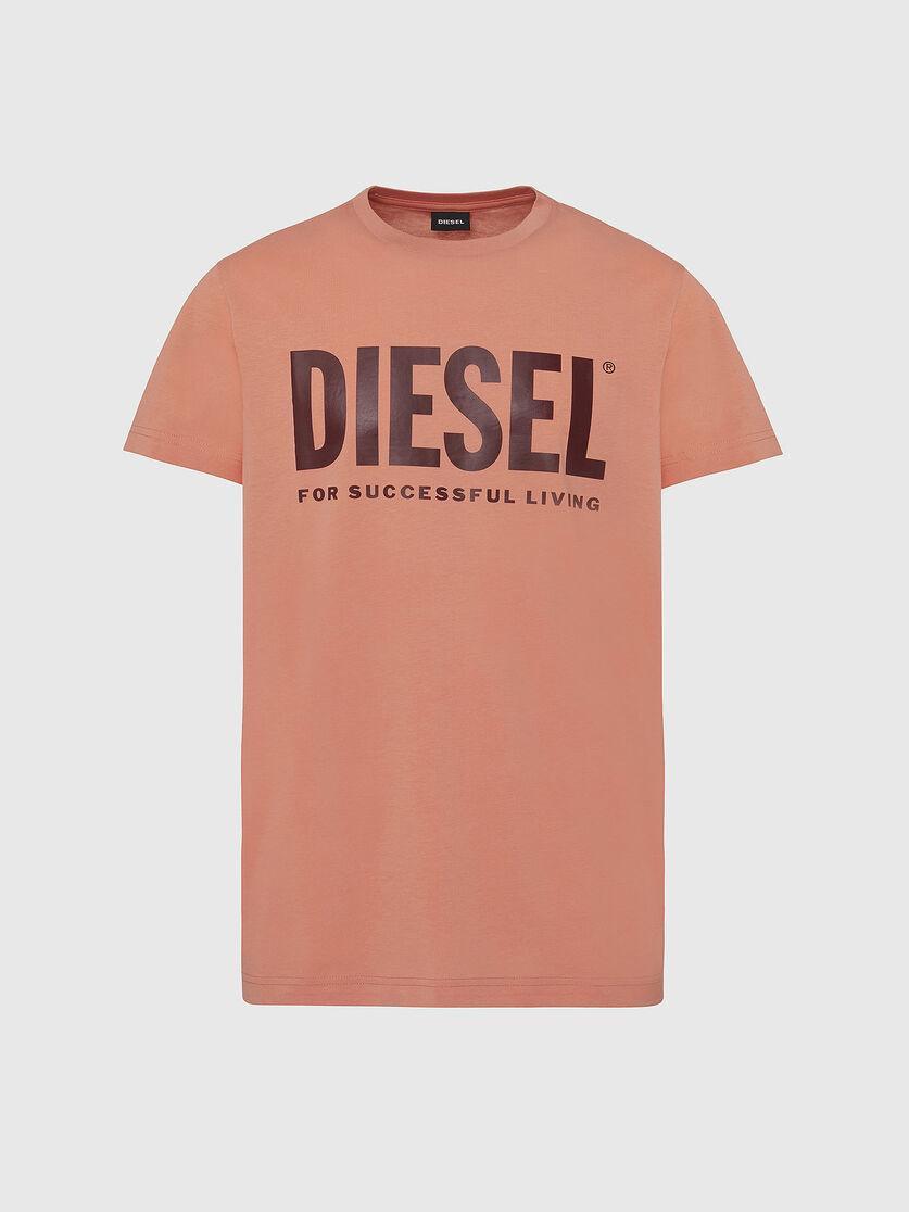 DIESEL DIESEL T-SHIRT DIEGO LOGO - ORANGE