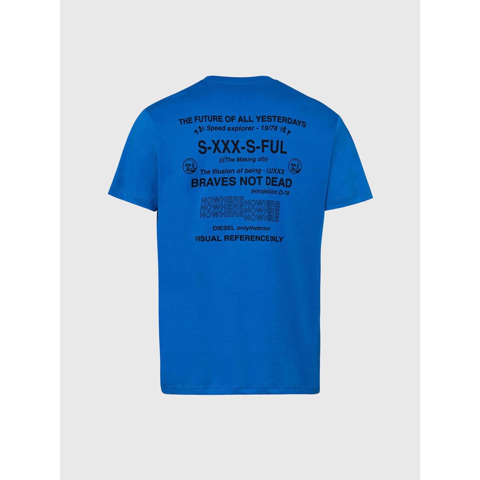 DIESEL DIESEL T-SHIRT DIEGOS X44 - BLUE