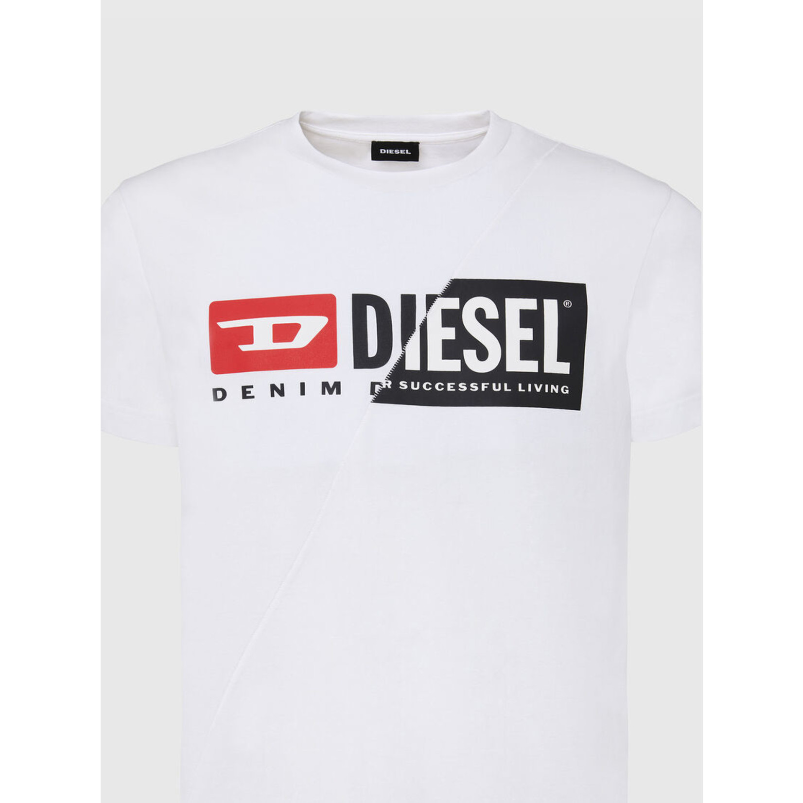 DIESEL DIESEL T-SHIRT DIEGO CUTY - WHITE