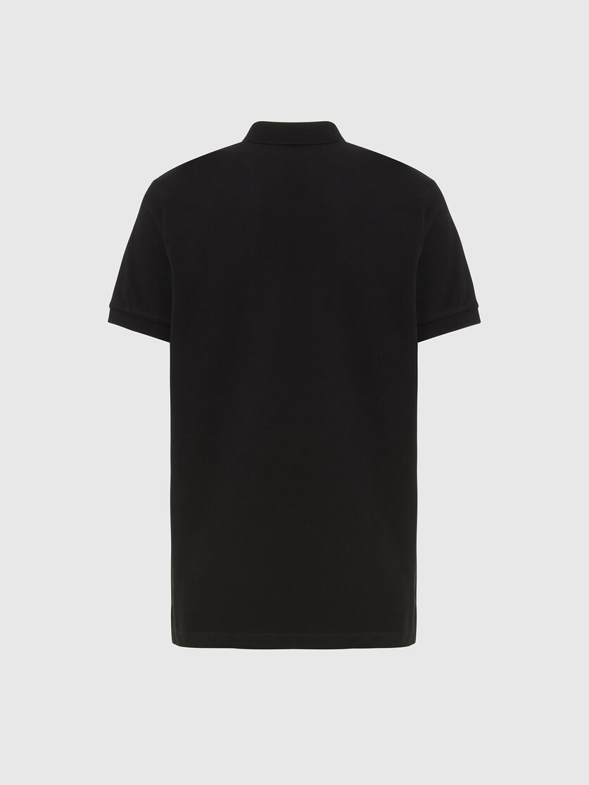 DIESEL DIESEL POLO T-HARRY SPLIT - BLACK