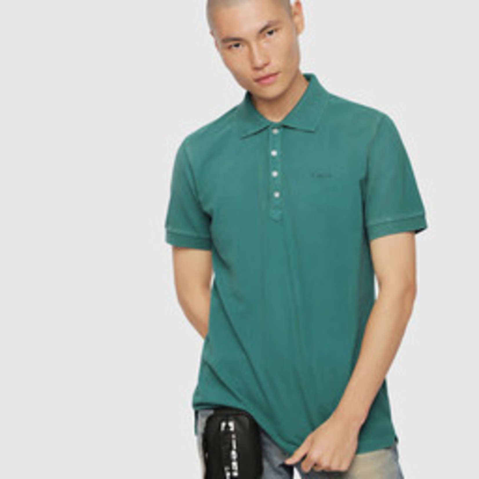 DIESEL DIESEL POLO T-NIGHT BROKEN - GREEN