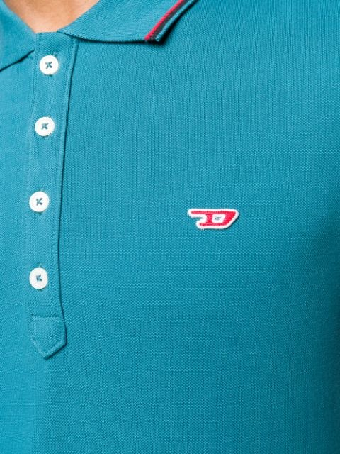 DIESEL DIESEL POLO T-RANDY NEW - BLUE/GREEN