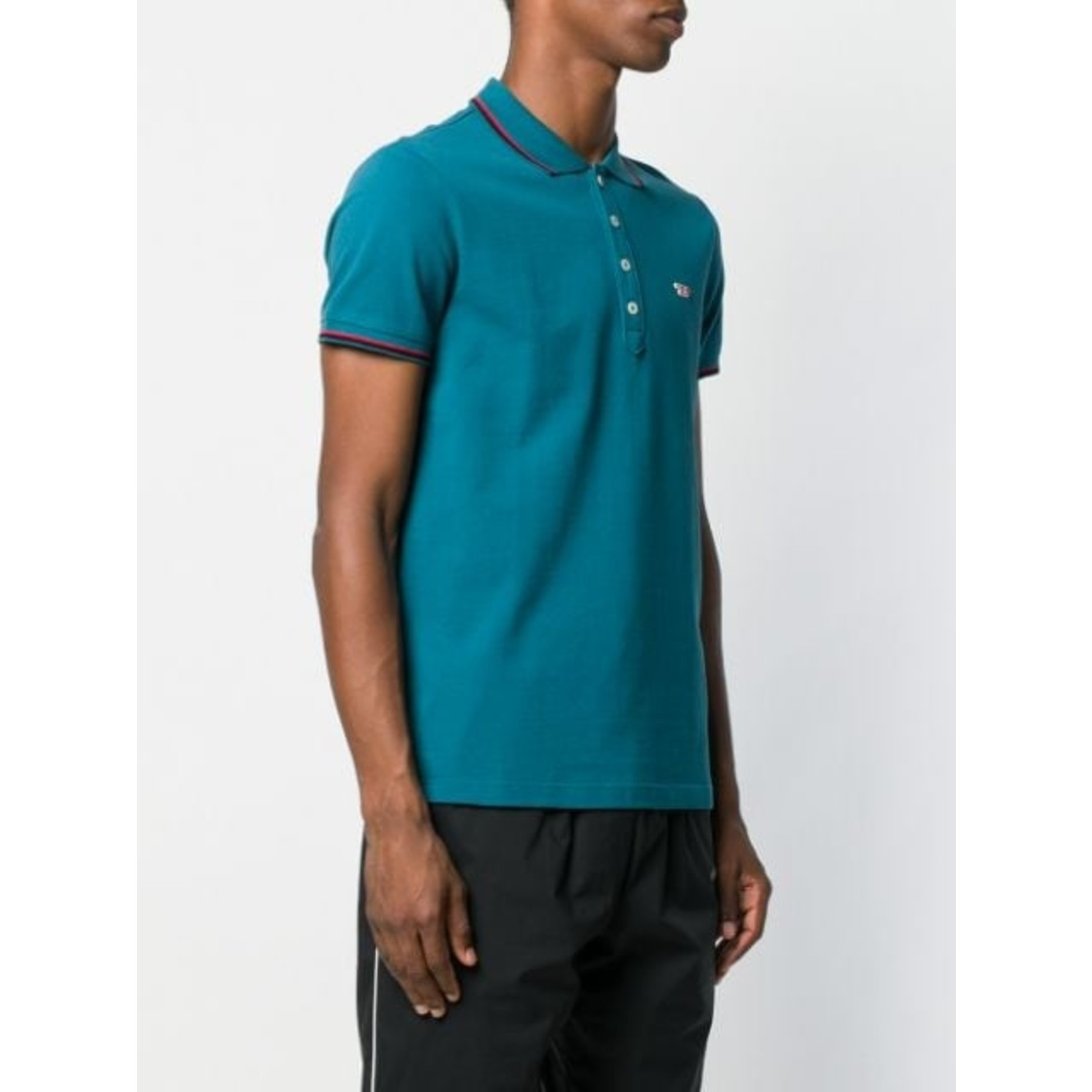 DIESEL DIESEL POLO T-RANDY NEW - BLUE/GREEN