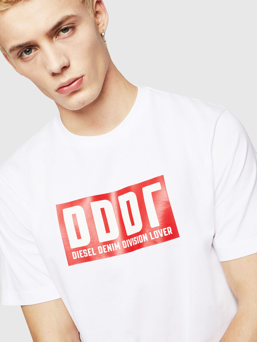 DIESEL DIESEL T-SHIRT  T-JUST-A9 - WHITE