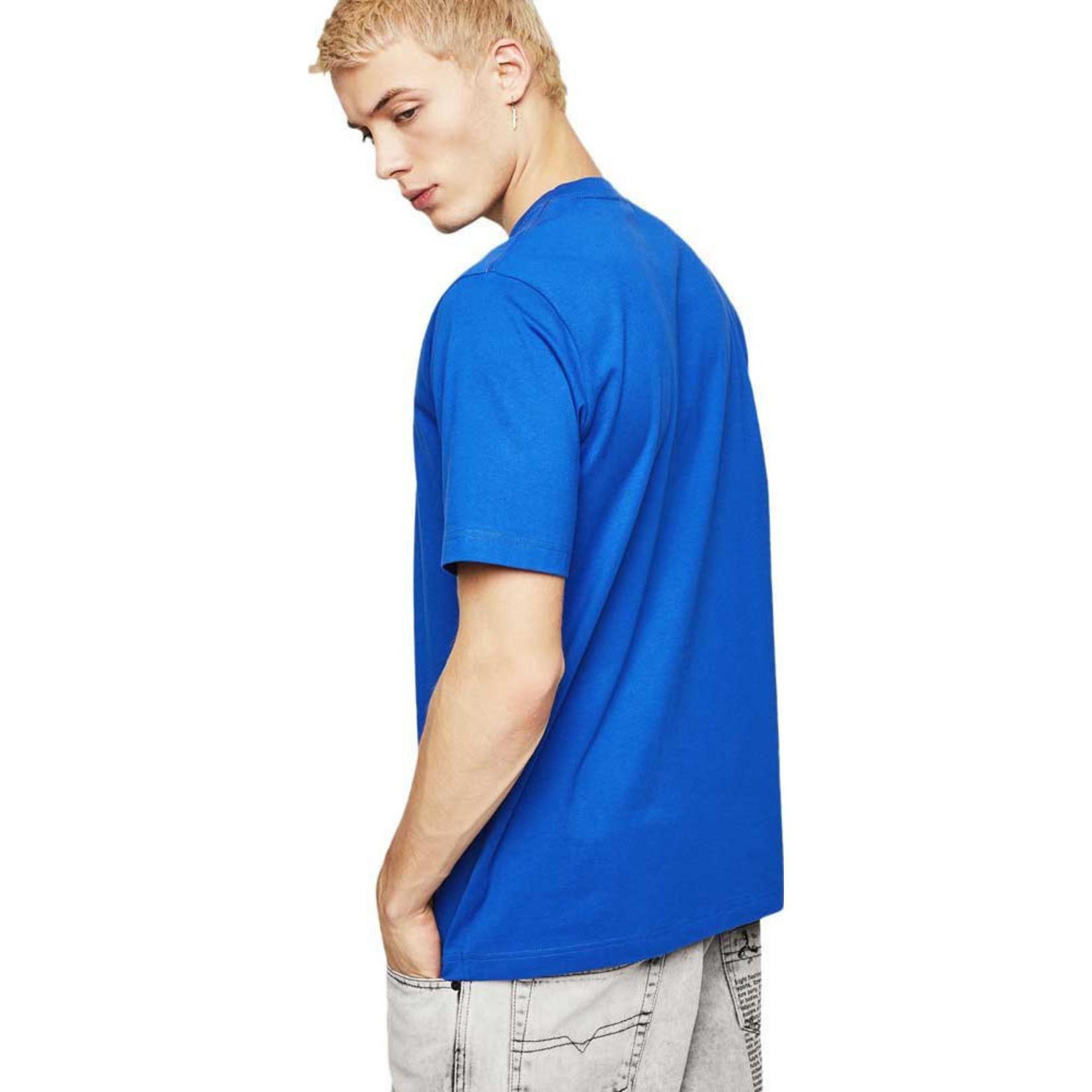 DIESEL DIESEL T-SHIRT T-JUST A9 - BLUE