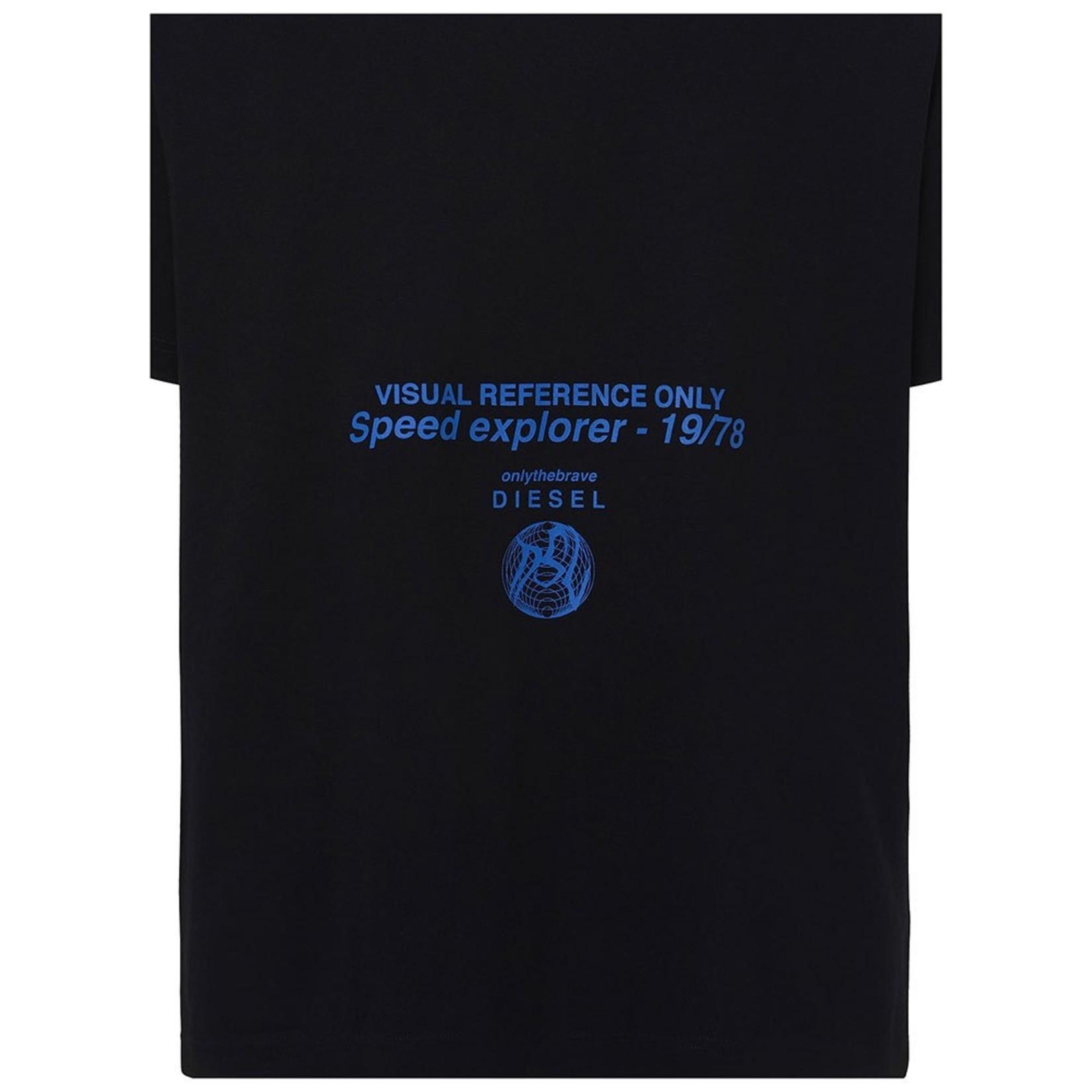 DIESEL DIESEL T-SHIRT T-TUBOLAR-X21 BLACK