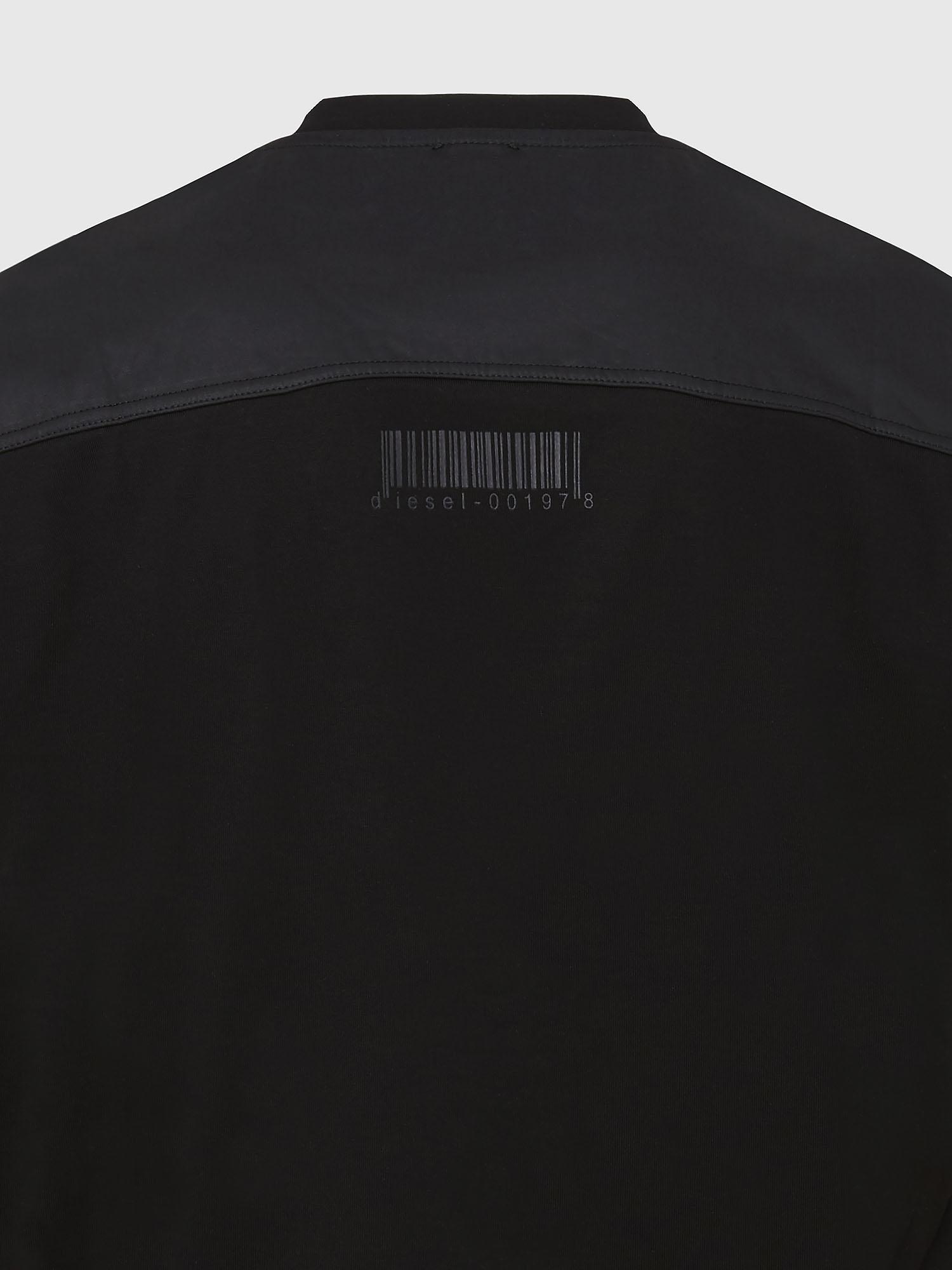 DIESEL DIESEL T-SHIRT T-DIEGOKE SLITS - BLACK