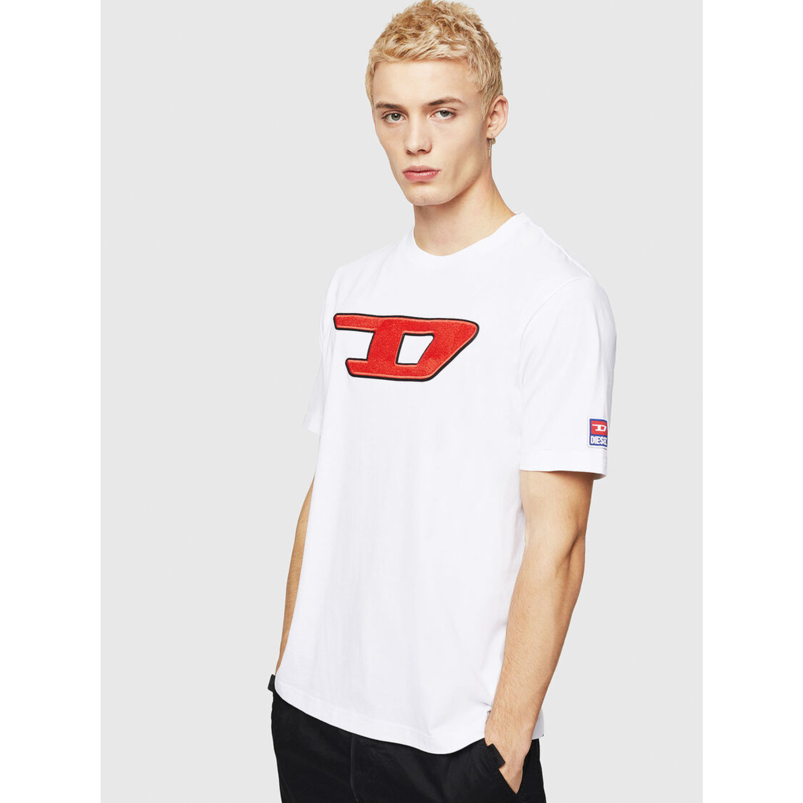 DIESEL DIESEL T-SHIRT T-JUST DIVISION D - WHITE